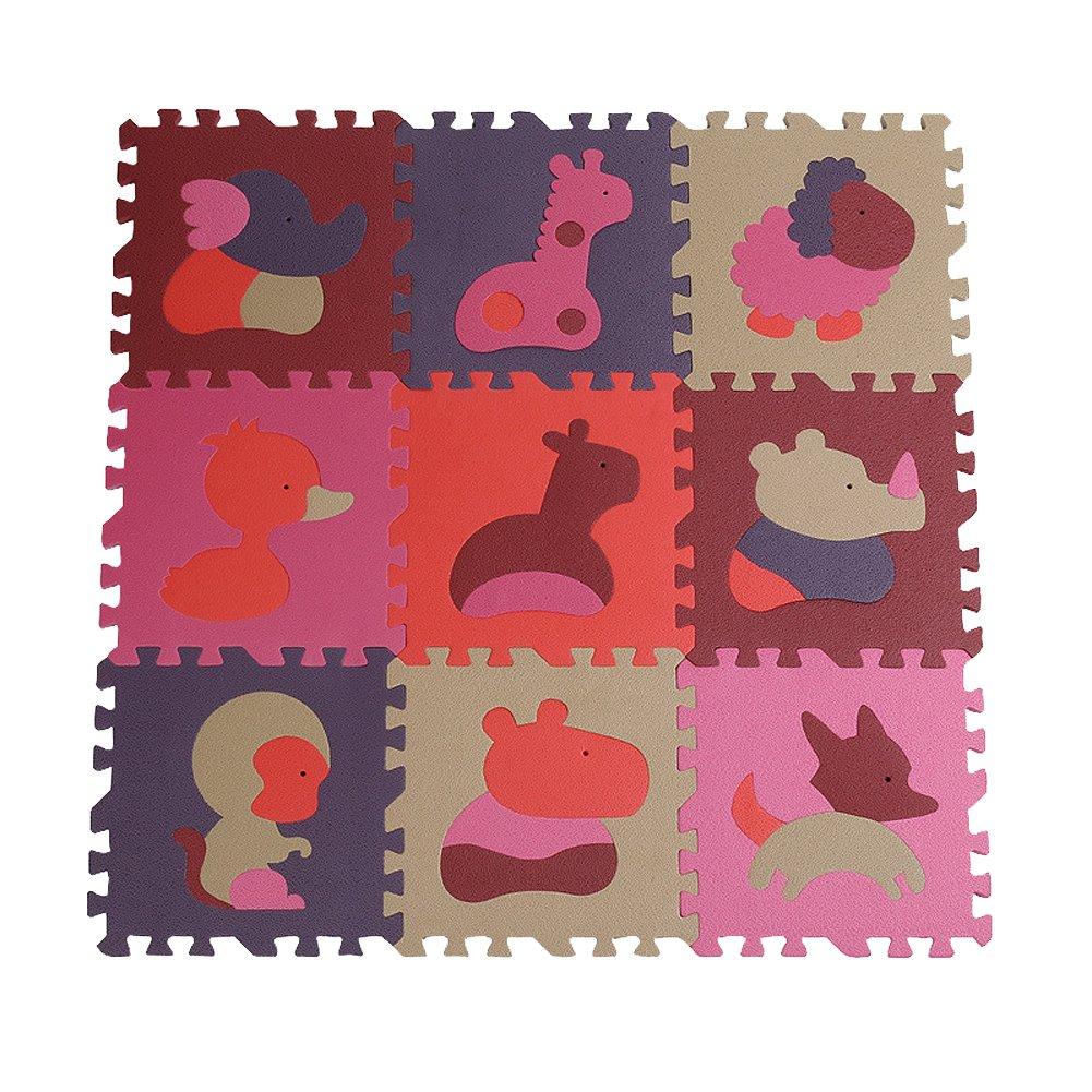Dopobo® Kinder Spielteppich Kinderteppich Spielmatte Lernteppich,wasserdicht,Jigsaw Verdickungs.30x30x1.4cm (dunkel A) online kaufen