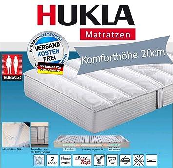 Hukla i night 400 Konfektionsgrößen-Matratze mit 95°-Topper, Größen Matratzen:90 x 220 cm;Härtegrad Matratzen:K4