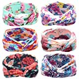 Toptim Baby Girl's Turban Headband Head Wrap Knotted Hair Band (Cross Model 6 Pack) (Color: Cross Model 6 Pack, Tamaño: adjustable)