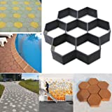 YOEDAF Paving Mould, Path Maker Mould Reusable Concrete Cement DIY Stepping Stone Brick Road Slabs Path Pavement for Driveway Patio Garden Walkway (Color: as picture show, Tamaño: free size)