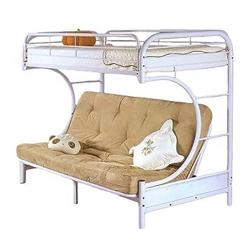 Milton Greens Stars 7540W Dream Maker Twin Over Twin Bunk Bed, White