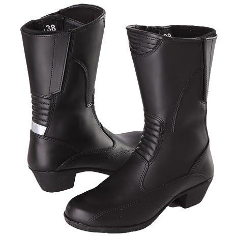 Modeka sTAR femme lADY bottes de moto en cuir noir