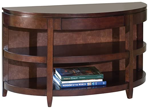 Magnussen Brunswick Wood Demilune Sofa Table