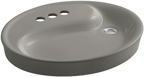 "KOHLER K-2354-4-K4 Yin Yang Wading Pool Bathroom Sink with 4"" Centers and Overflow, Cashmere"