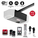 Genie QuietLift Connect - WiFi Smart Garage Door Opener with Added Wireless Keypad, ¾ HPC Smart Belt Drive - Compatible with Alexa and Google Assistant, Model 3053-TKV (Color: Black)