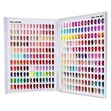 308 Nail Color Chart Display, Nail UV Gel Polish Swatch Book Nail Painting Practice Design Board, Fake Tips Nails Sample Display Nail Art for Nail Salons, DIY Nail Art at Home (Tamaño: 308Colors)