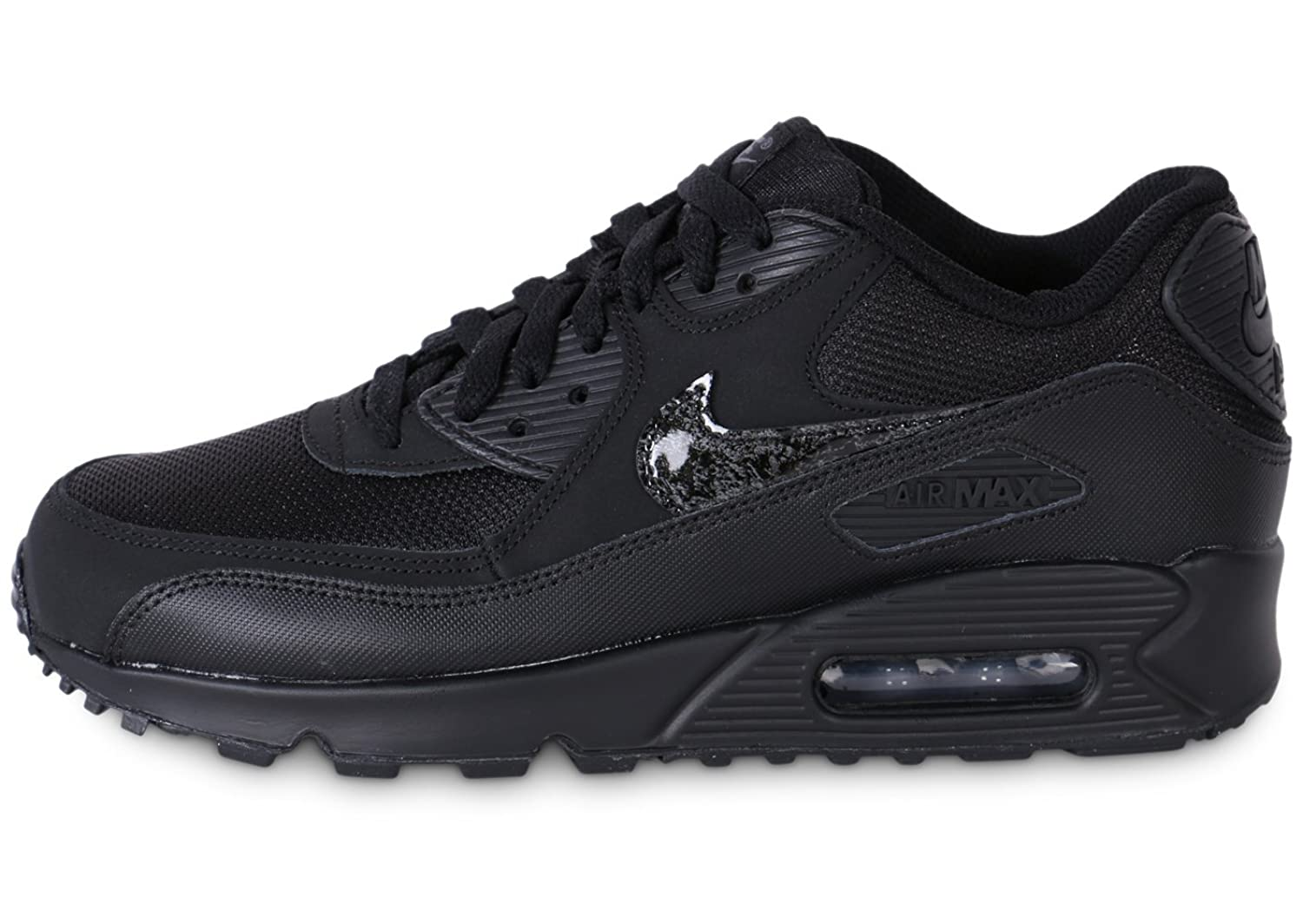 Nike AIR MAX 90 MESH (GS) boys fashion-sneakers 724824-001 nike air max 90 женские купить срочно