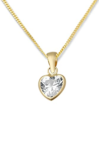 Miore 9ct Heart Pendant  with Chain