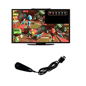 Nunchuk Controller for Nintendo Wii and Wii U Video Game (Color: Black)