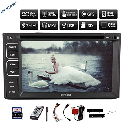 2DIN 6.2''HD pantalla capacitiva digitales estšŠreo de CD DVD del coche reproductor De Video Muilt Subwoofer tš¢ctil de navegaciš®n GPS Bluetooth En Dash MP3 Doble 2Din Car Stereo Radio audio AUX ršŠcepte