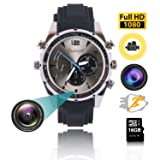 ZFLTEI Portable HD 1080P Video Watch Camera, Security Camera Loop Video Recorder Built-in 16G Mini Nanny Cam Wristband (Color: 1)