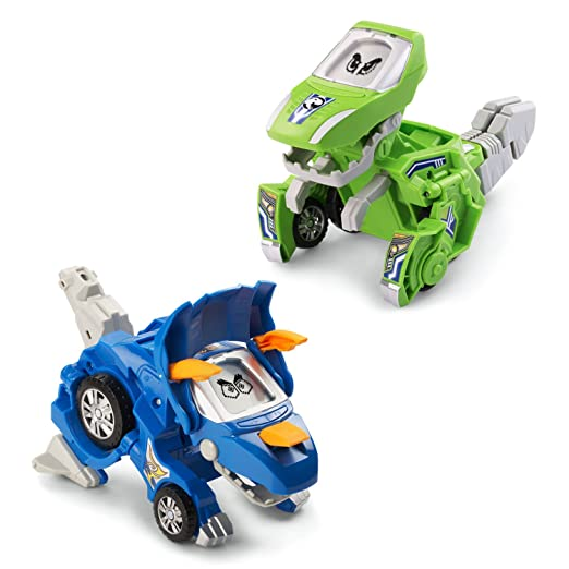 VTech Switch & Go Dinos - Animated Dinos 2-pack with Sliver & Horns