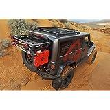 Teraflex 4838150 JK/JKU Alpha Hinged Carrier & Alpha HD Adjustable Spare Tire Mounting Kit-Complete (Color: Black)