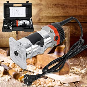 RanBB 530W 1/4 Electric Hand Trimmer Wood Laminate Palm Router Joiner Tool Device with Wrenches