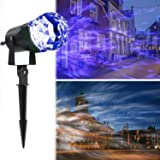 LESHP Projection Flame Light, Waterproof Magical Spotlight Rotating LED Projector Light with Flame Lightings for Indoor Outdoor Christmas Festival Decorations for Home, Garden, Landscape