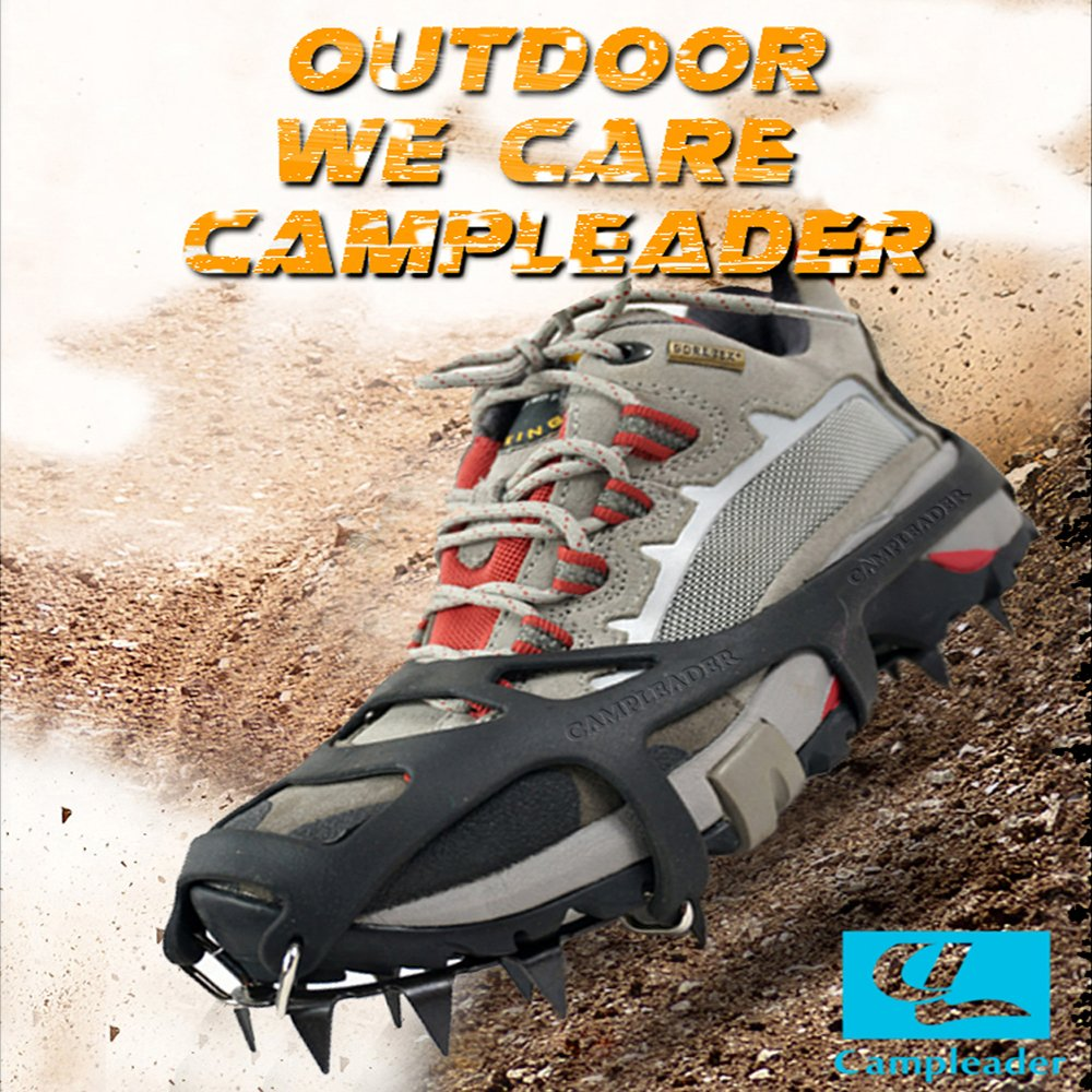 """CAMPLEADER Crampon 2015 Spring Traction Cleats for Snow & Ice Safe Protect Shoes (Ergonomic Fifth Edition) (Ergonomic Crampon Fifth Edition 2015, Large (US 8-10""""/EU 41-44""""))"""