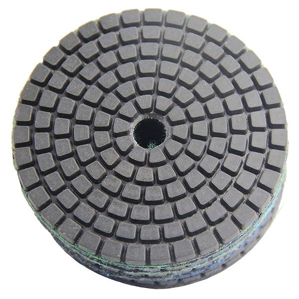 Easy Light Wet Diamond Polishing Pad 3 Inch 10 PCS Grinding Buff for Stone Granite Marble Grit 100