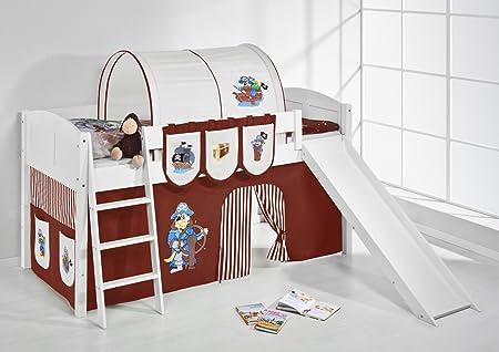 Lilo Kids Pirate (Bed, Wood, brown, S 4106KWR–Ida Brown 208x 220x 113cm