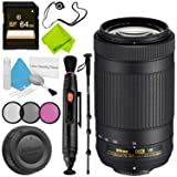 Nikon AF-P DX NIKKOR 70-300mm f/4.5-6.3G ED VR Lens Base Bundle (Color: 70-300MM VR P, Tamaño: Base)