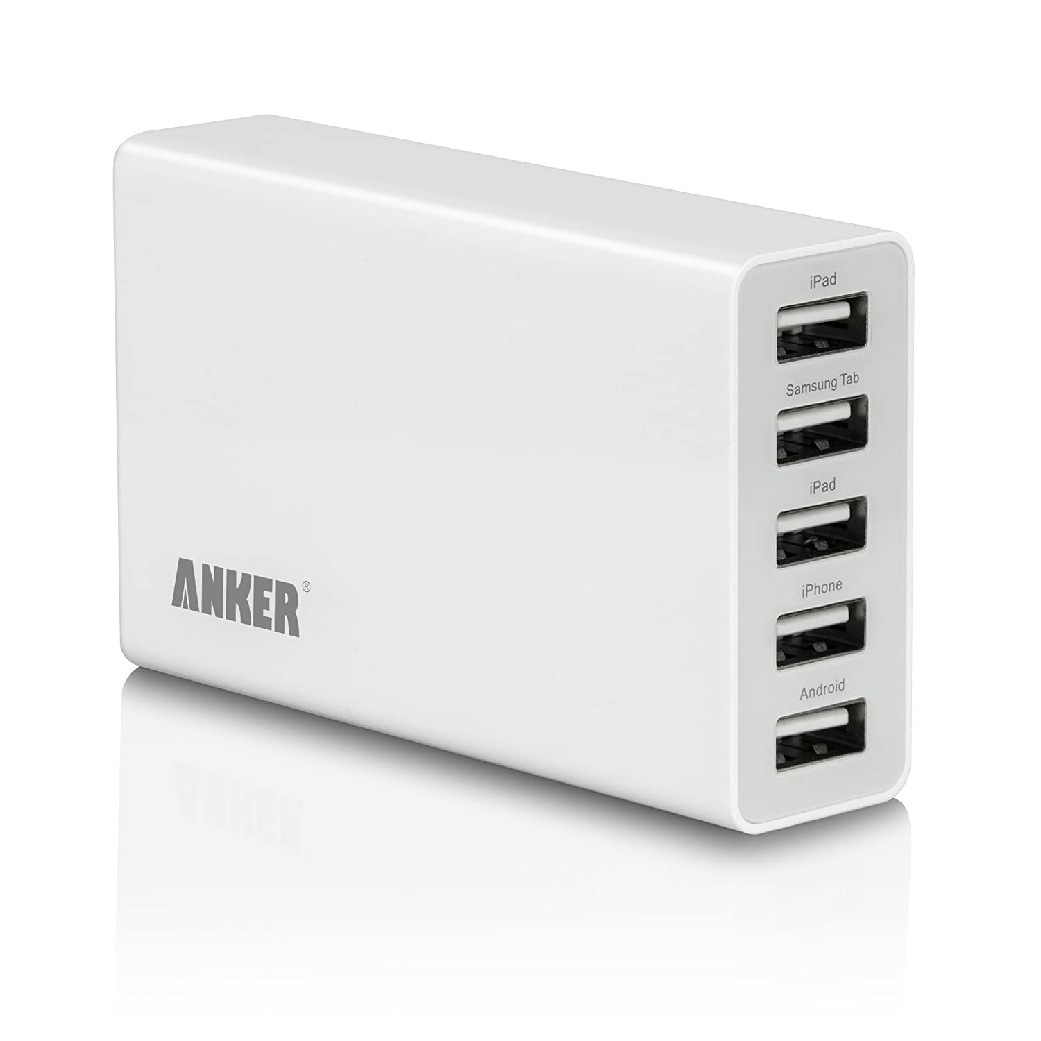 Anker® 25W/5A 5-Port USB Wall Charger / rapid Travel Charger portable charger for for all Tablets and Phones $20