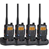 Olywiz UV6S Walkie Talkie Long Range 5W Handheld two way radio High/Low Power Switchable 128 channels 4 PACK
