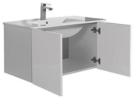 aleghe Eris Bathroom Cabinet Gloss White