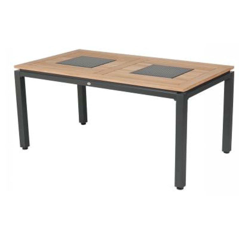 Hartman Concept Tisch 160 x 90 cm Teakholz/Aluminium günstig online kaufen