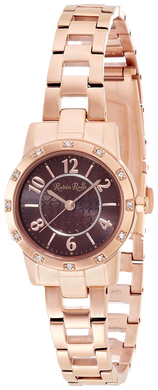 Amazon.co.jp: [ルビンローザ]Rubin rosa 腕時計 R009SOLPBR ソーラークォーツ ピンクゴールド ブラウン文字盤 レディース R009SOLPBR レディース: 腕時計通販