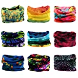 Headwear, Godspeed Headwrap 9-Pack Headband & Bandanna 16-in-1 Multifunctional Telescopic Seamless Scarf Facemask For Outdoor Leisure Activities (Color: Watercolor Series, Tamaño: 48(cm)±1*25(cm)±1)