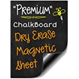 "Bigtime 16"" Magnetic Dry Erase Weekly Chalkboard Menu Meal Planner Organizer for Refrigerator 