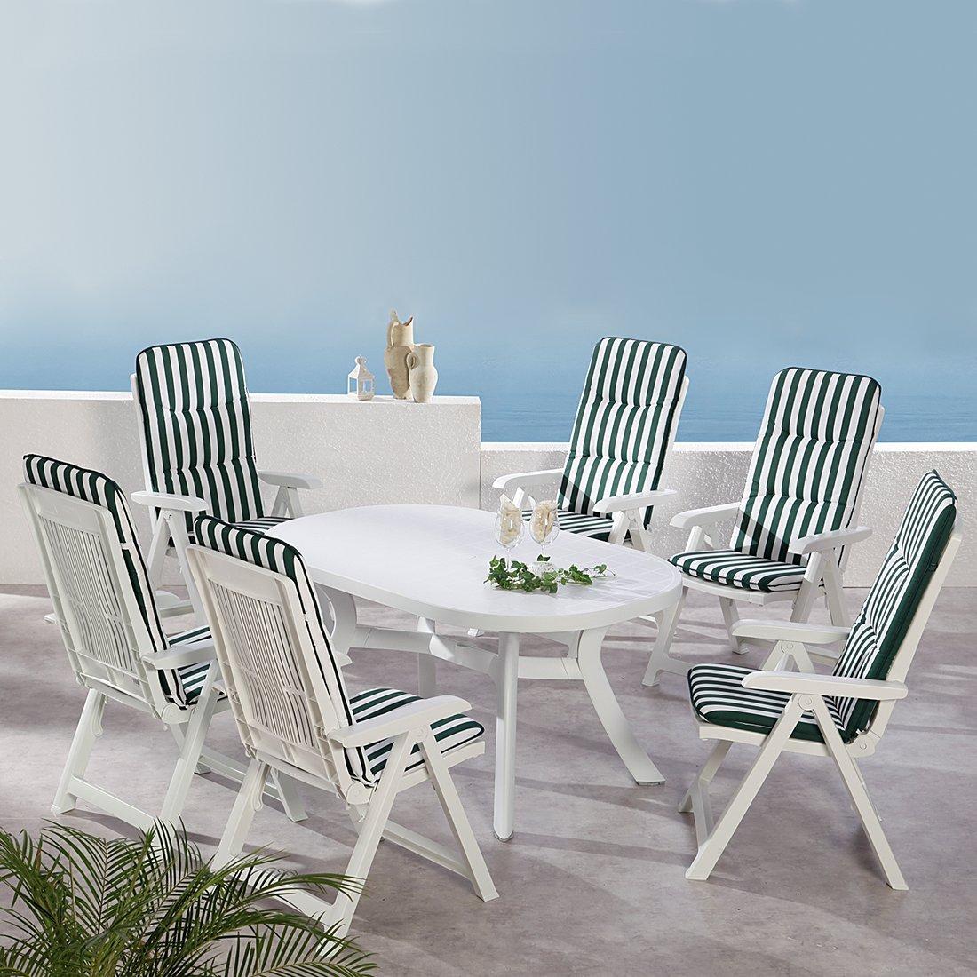 BEST 96236903 13-teilig Komplett Set Santiago, Gartenmöbel, D.0269, weiß günstig online kaufen