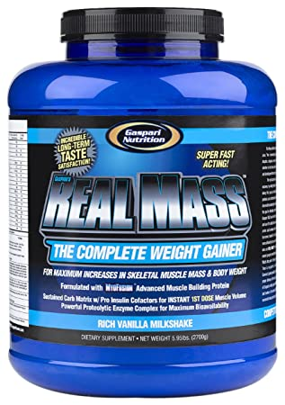 Real Mass Gaspari Nutrition 2700 g Vanille Weight Gainer