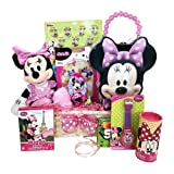 Christmas Gift Basket for Kids Minnie Mouse Themed 10 Items In 1 Basket With Novelties, Jewelry, Watch, Hair Accessories, Fun and Games (Tamaño: 1 Mini)