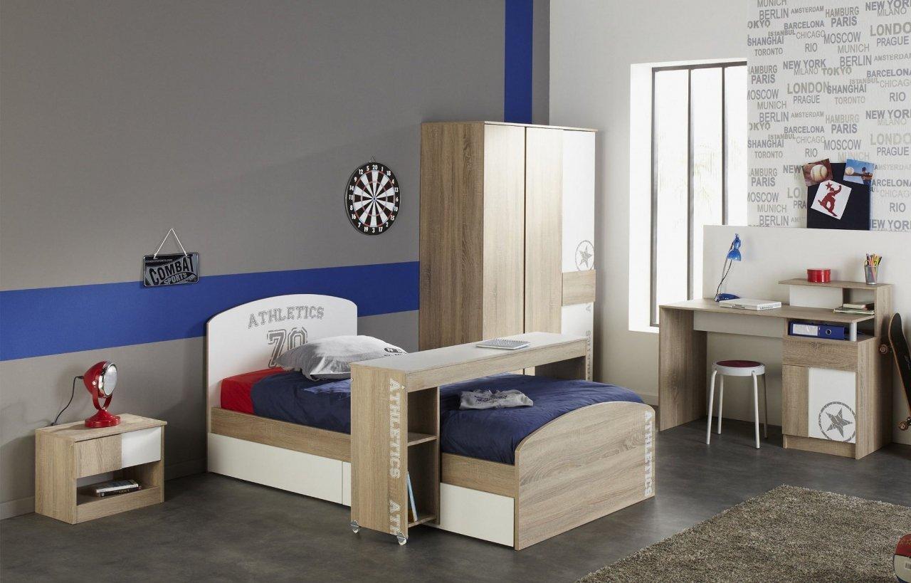 Kinderzimmer Jugendzimmer Eiche Sonoma / weiß 6-teilig Taylon günstig bestellen