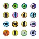 Glass Dragon Cat Eye Flatback Dome Cabochon for Jewelry or Doll Eyes Making (35MM-40PCS) (Tamaño: 35MM-40PCS)