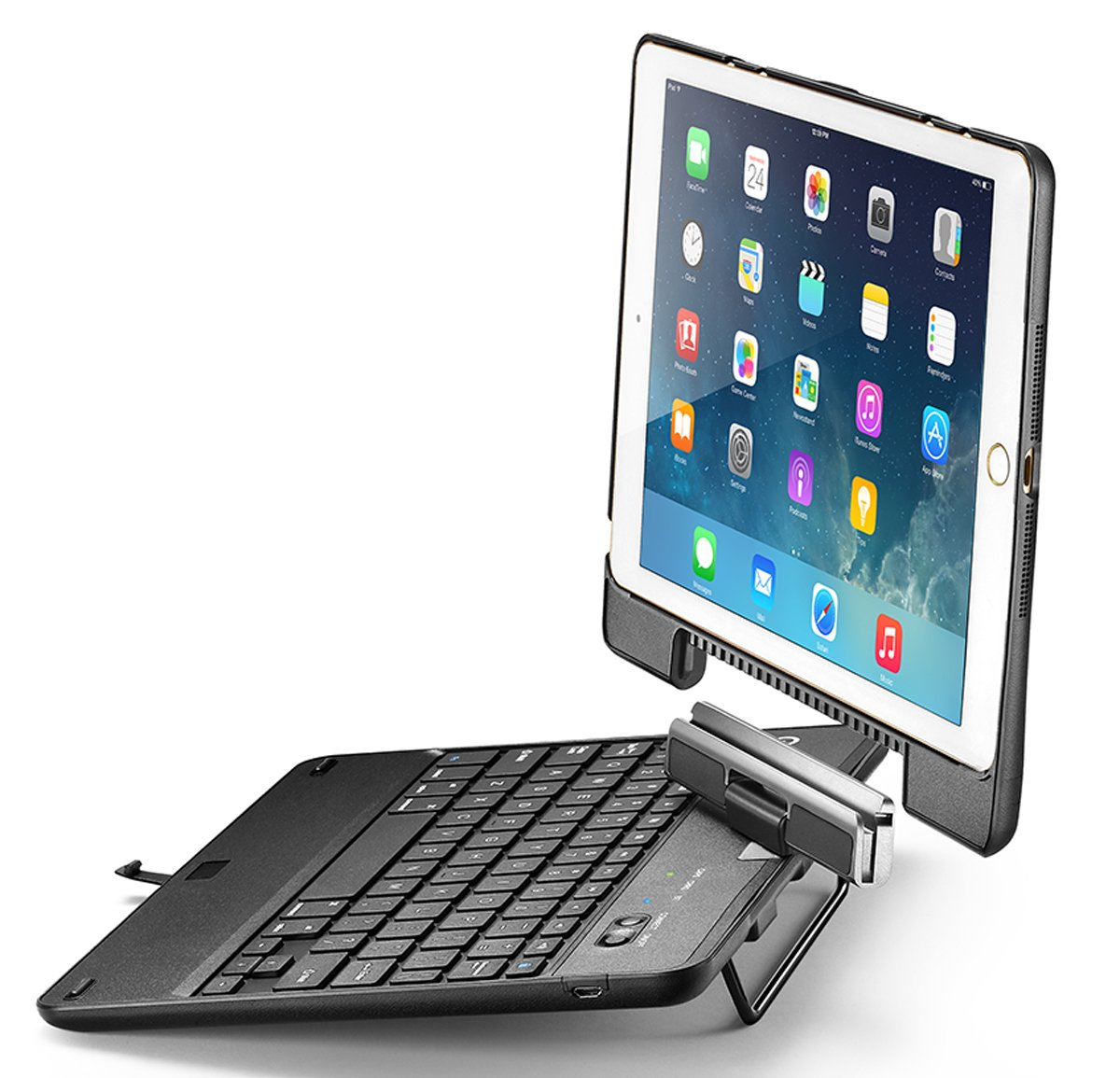 iPad Air 2 Keyboard Case, iPad Air Keyboard Case, New Trent Airbender Star with Detachable Wireless Bluetooth Smart Keyboard for the Apple iPad Air, iPad Air 2; Not for iPad Pro, iPad Mini