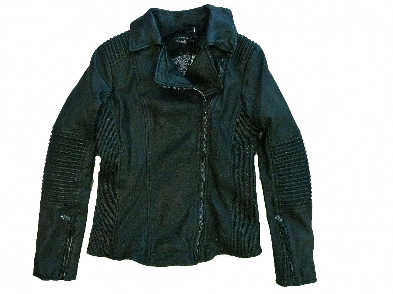 HO-1005 Pepe Jeans London Damen Lederjacke schwarz