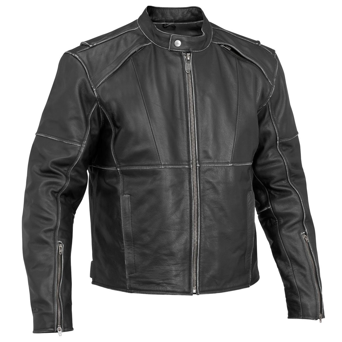 River Road Rambler Vintage Mens Black Leather Jacket 0