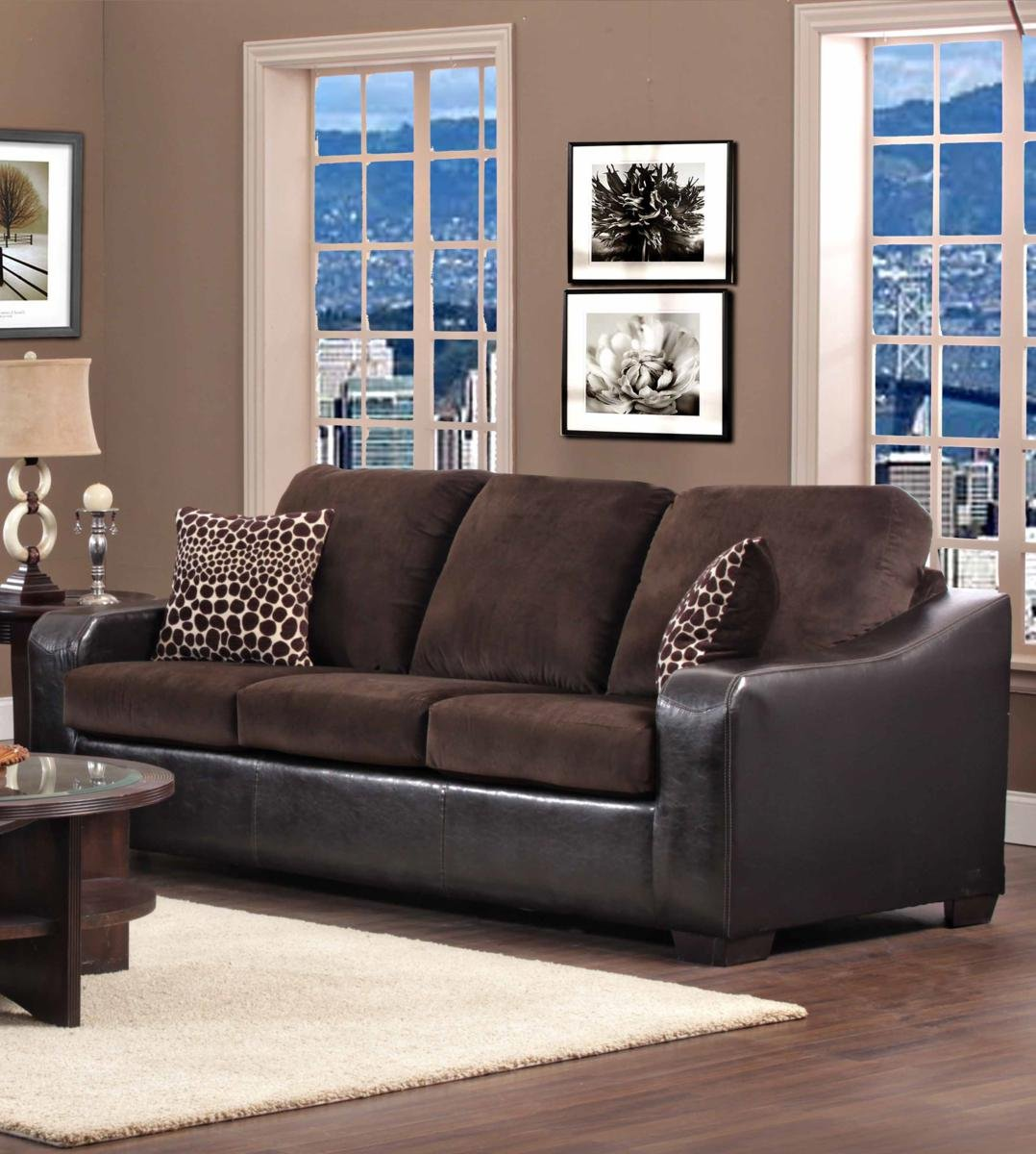 Chelsea Home Furniture Kappa Sofa - Jefferson Chocolate/Explosion Coffee