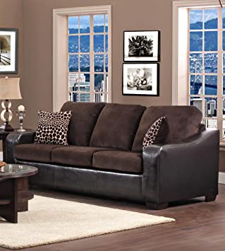 Chelsea Home Furniture Kappa Sofa, Jefferson Chocolate/Explosion Coffee