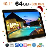 Unpara 2018 HD 10-Inch Table PC Built-in 8-Core, 4G RAM + 64G ROM, Android 6.0, Bluetooth 4.0, MIC, CMOS Camera, 8000mAh Lithium Battery, Wifi Phablet Etc (Black)