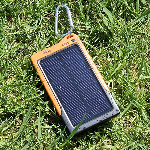 Ezopower Usb Solar External Power Bank Backup Battery Charger- 7200Mah For Apple Iphone 6 / 6 Plus / Iphone 5 / 5S And More