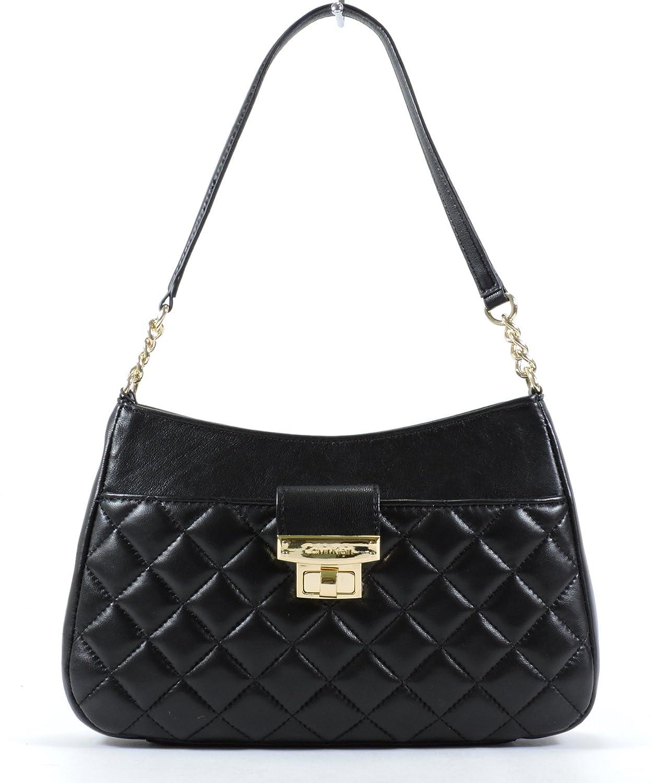 Calvin Klein Black Leather Shoulder Bag 11