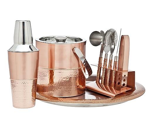 AmazonSmile - Godinger 9 pc Copper Bar Set -