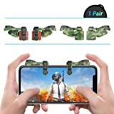 [ELITE Edition]Leuna Mobile Game Controller L1R1 Game Triggers Fire and Aim Buttons for PUBG for Fortnite for iPhone SE 6 7 8 X/Samsung Note 8 9 / S7 S8 S9(Camouflage Green) (Color: Camouflage Green)