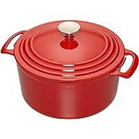 Cooks 3.5qt. Enameled Cast Iron Dutch Oven (Multi Colors)