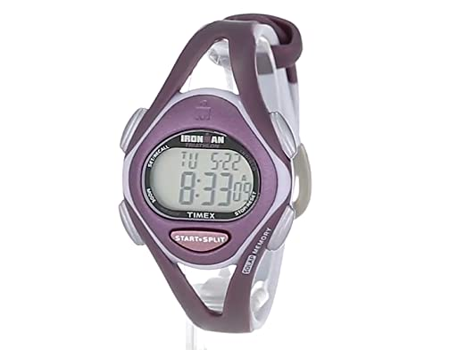 Quality timex women t5k007 ironman sleek 50 lap plum gray