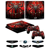 PS4 Slim Skins - Decals for PS4 Controller Playstation 4 Slim - Stickers Cover for PS4 Slim Controller Sony Playstation Four Slim Accessories with Dualshock 4 Two Controllers Skin - Spider Man (Color: Spider Man)