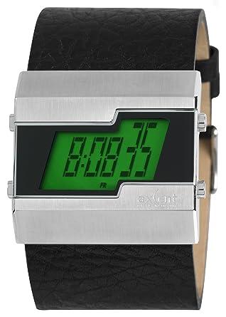 montre digital bracelet cuir