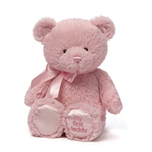Baby GUND My First Teddy Bear Stuffed Animal Plush, Pink, 24 (Color: Pink, Tamaño: 24 Extra Large)